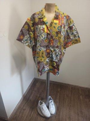 Vintage Camisa de manga corta multicolor Algodón