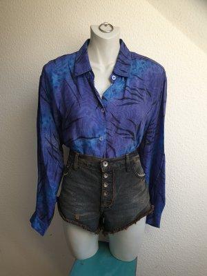 80s / 90s Vintage Hemdbluse aus Kupferseide, Oversize