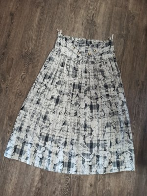 Vintage Plisowana spódnica Wielokolorowy