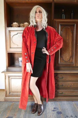Vintage Cappotto in pelle multicolore Pelle