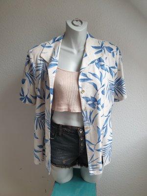 80s Vintage Blazer mit Blätterprint & Schulterpolstern, Oversize