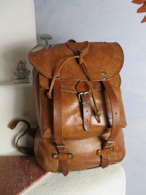 80s Vintage Dudra East Germany Leder Rucksack Große Tasche Reisetasche Naturleder Buckebag