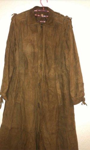 Cappotto in pelle marrone