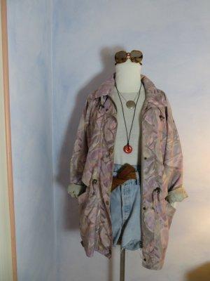 80s Vintage Etirel Parka - Pastellfarbener Crazy Pattern Anorak - M L - Oversize Windbreaker Jacke
