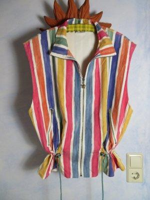 Vintage Smanicato sport multicolore Cotone