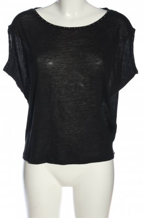 81 hours Short Sleeved Blouse black casual look