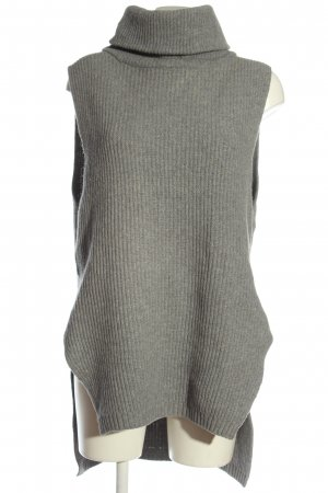 81 hours Turtleneck Sweater light grey cable stitch casual look