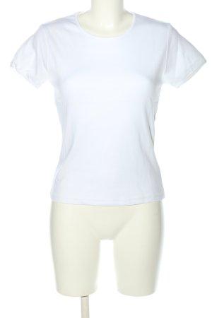 81hours T-shirt blanc-bleu lettrage imprimé style décontracté