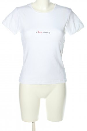 81 hours T-Shirt weiß Casual-Look