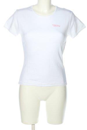 81 hours T-Shirt weiß-rot Motivdruck Casual-Look