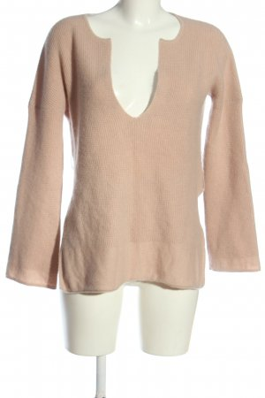 81 hours V-Neck Sweater pink casual look
