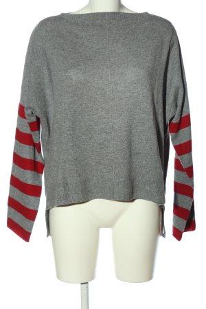 81hours Sudadera de cachemir gris claro-rojo moteado look casual