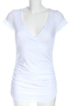 81hours Blouse à manches courtes blanc style décontracté