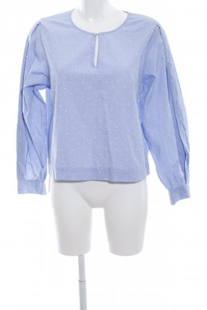 81hours Langarm-Bluse blau Allover-Druck Casual-Look