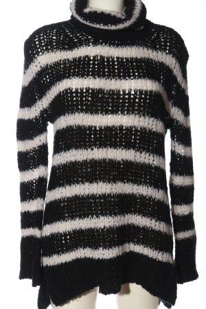 81hours Jersey largo negro-blanco estampado repetido sobre toda la superficie