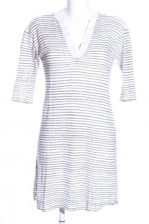 81hours Mini Dress white-blue striped pattern casual look