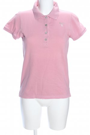 81hours Polo Shirt pink embroidered lettering casual look