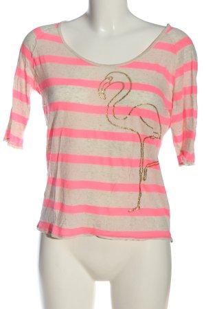 81hours T-shirt rayé moucheté style décontracté