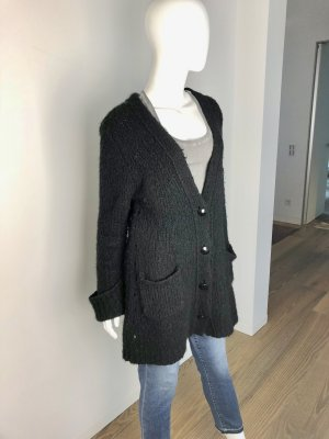 81hours Coarse Knitted Jacket black