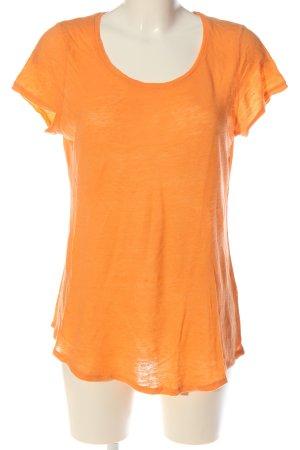 81hours T-shirts en mailles tricotées orange clair style décontracté