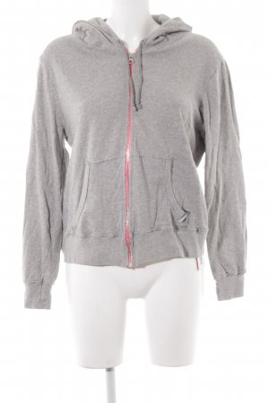 81hours Sweatjacke hellgrau meliert Casual-Look