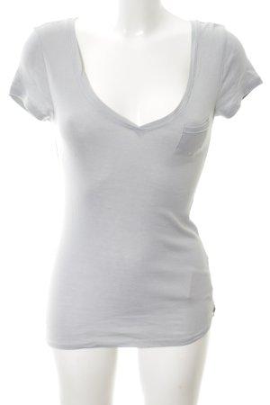 81hours T-shirt col en V gris clair style décontracté