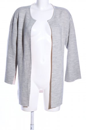 81hours Veste en laine gris clair moucheté style décontracté