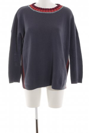 81hours Wollpullover blau-rot Casual-Look