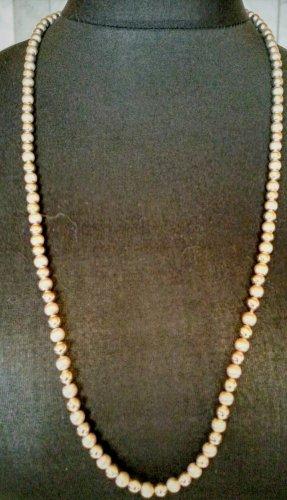 835 Silber Kette mit Hämatit und Silber Perlen, Vintage