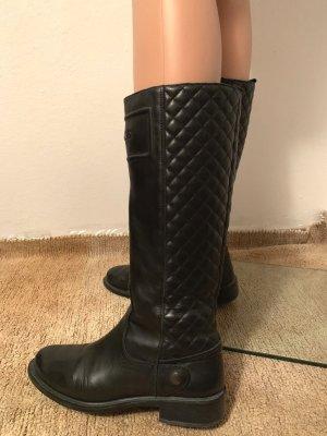 875€ Richmond gesteppt Boots Reitstiefel Echtleder Stiefel Stiefeletten Schuhe