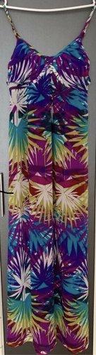 89,95€ Sommer Maxikleid Kleid Tunika Seide Effekt 36 S M w. Neu