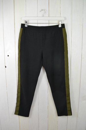 8PM 7/8 Length Trousers black-green grey polyester