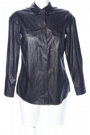 8PM Faux Leather Jacket black casual look