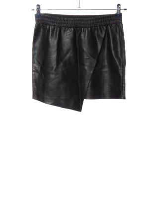 8PM Mini rok zwart wetlook