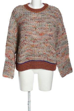 8PM Kraagloze sweater gestippeld casual uitstraling