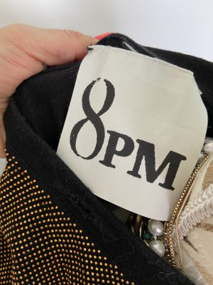 8PM Oversized shirt zwart-brons