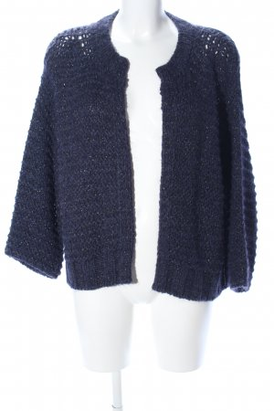 8PM Strickjacke blau meliert Casual-Look