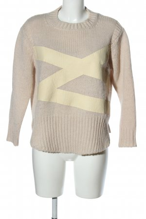 8PM Strickpullover creme Casual-Look