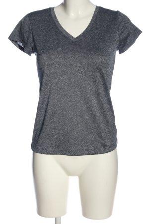 90 Degree Camisa con cuello V gris claro moteado look casual