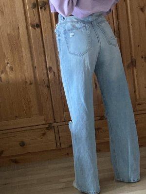 Bershka Baggy Jeans azure
