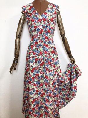 90er Jahre Vintage Kleid mit Blumenmuster aus Viskose