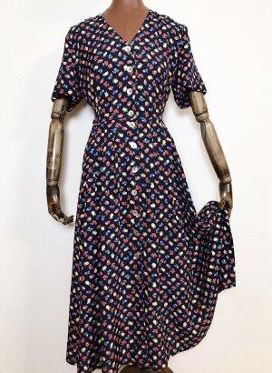 90er Jahre Vintage Kleid mit Früchten
