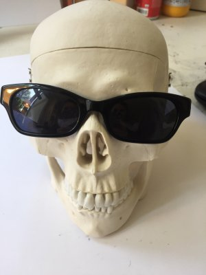 Benetton Hoekige zonnebril zwart