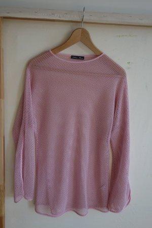 Maglia a rete rosa Poliestere