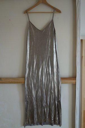 90ies Style glänzendes Kleid mit Spaghettiträgern
