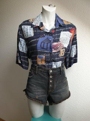 90s Retro Hemd mit ausgefallenem Print, Oversize