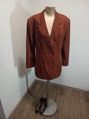 90s S.Oliver Vintage Blazer Longblazer tailliert braun kastanie chestnut Gr. M L