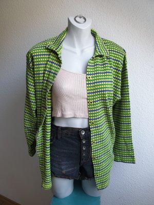 90s Vintage Baumwollhemd, bunt gemustert