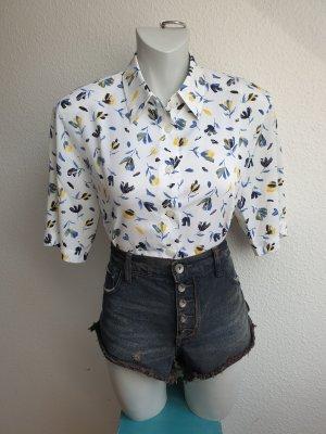 90s Vintage Bluse / Hemd geblümt, Oversize