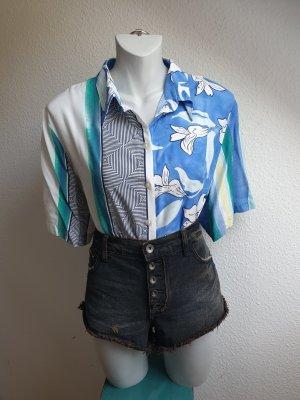 90s Vintage Bluse / Hemd, Oversize & Mustermix